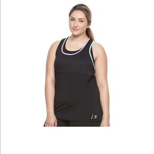 NWT FILA TANK SIZE LARGE WITH ATTACHED SPORT BRA